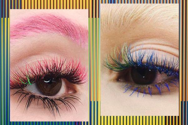 Photo of Тренд из Instagram: ресницы всех цветов радуги
